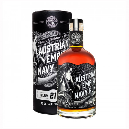detail Austrian Empire Navy Rum 21y 0,7L 40% .- tuba