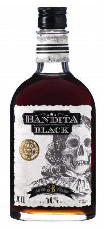 detail BANDITA BLACK 0,7L 50%