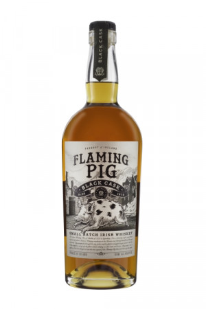 detail Flaming Pig Black Cask Whisky 0,7 40%