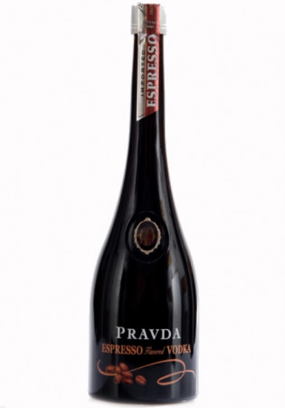 detail Pravda vodka Espresso 0,7L 37,5%
